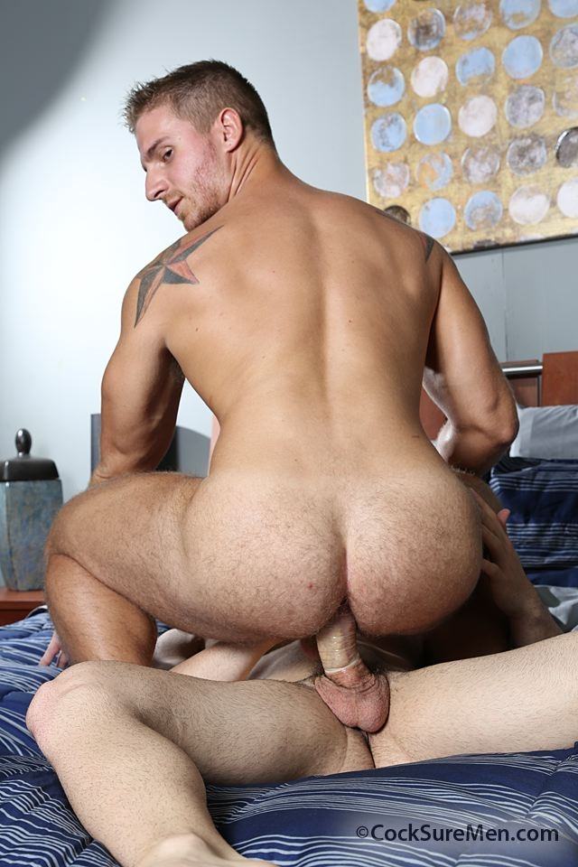 Muscly Ass Rimmed Hunk Cock Rode