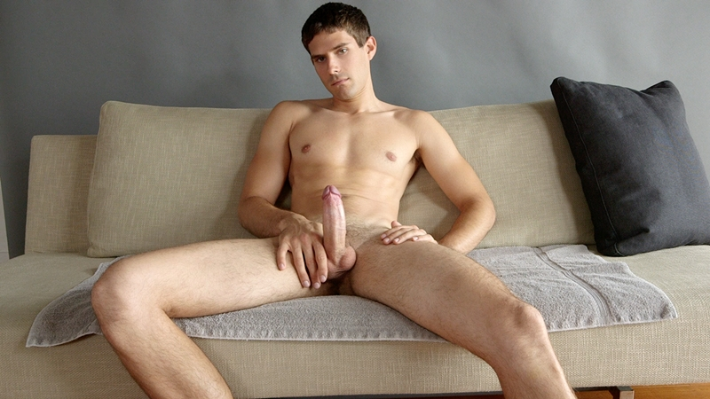 Tight sexy dude jerking off dick