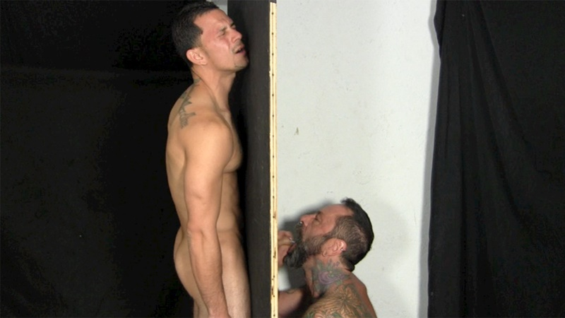 Gay Stud Wants His Cock Sucked Through A Gloryhole