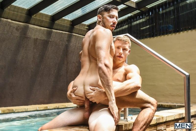 Men for Men Blog Justin-Matthews-and-Shane-Jackson-dildo-ass-play-Men-com-013-gay-porn-pics-gallery Justin Matthews is shocked to find Shane Jackson in the pool taking a huge dildo up his ass Men