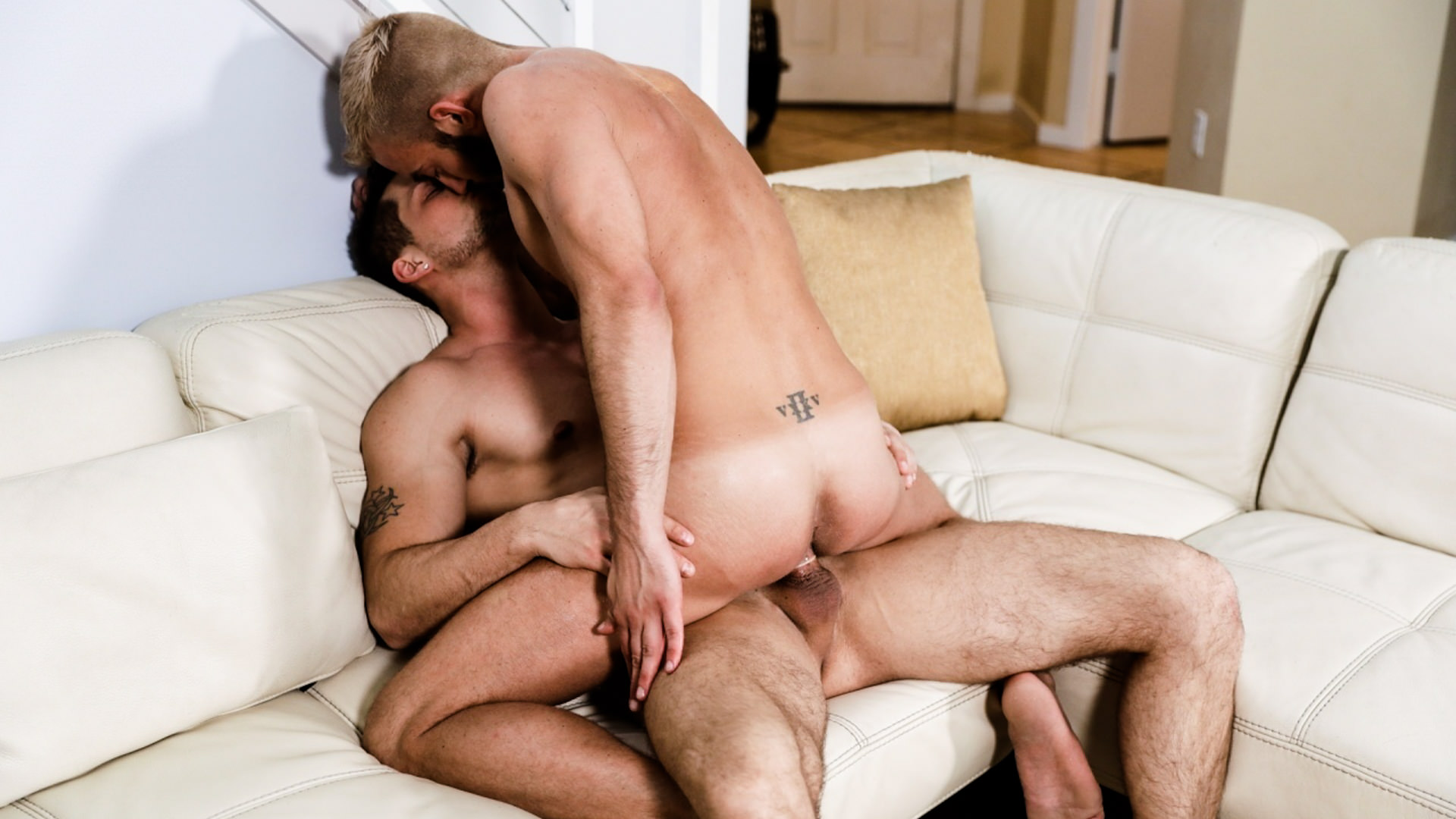 Men for Men Blog 70676_04_01 Michael Roman and Jett Rink kiss passionately then the hardcore ass fucking begins ending in both young dudes covered in cum Icon Male
