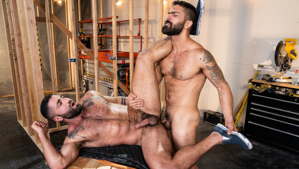 Men for Men Blog 74821_03_01 Hairy muscle hunk Adam Ramzi slides his huge raw cock deep into Sharok's ass crack Raging Stallion