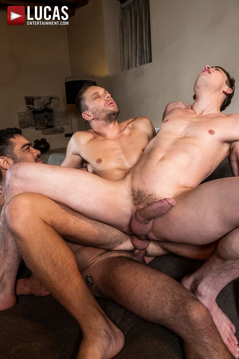 Men for Men Blog Gay-Porn-Pics-014-Andrey-Vic-Wagner-Vittoria-Ruslan-Angelo-Hot-gay-threesome-huge-dicks-double-fuck-hot-muscle-ass-LucasEntertainment Hot gay threesome Andrey Vic and Wagner Vittoria's huge dicks double-fuck Ruslan Angelo's hot muscle ass Lucas Entertainment