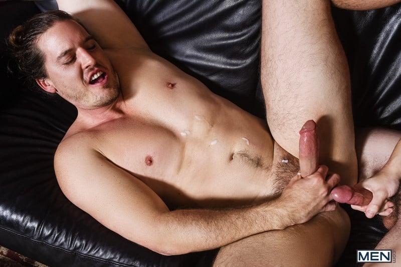 Men for Men Blog Gay-Porn-Pics-019-Will-Braun-Kip-Johnson-Long-haired-muscle-hunk-bottom-boy-big-erect-cock-Men Long haired muscle hunk Kip Johnson bottoms for Will Braun's big erect cock Men
