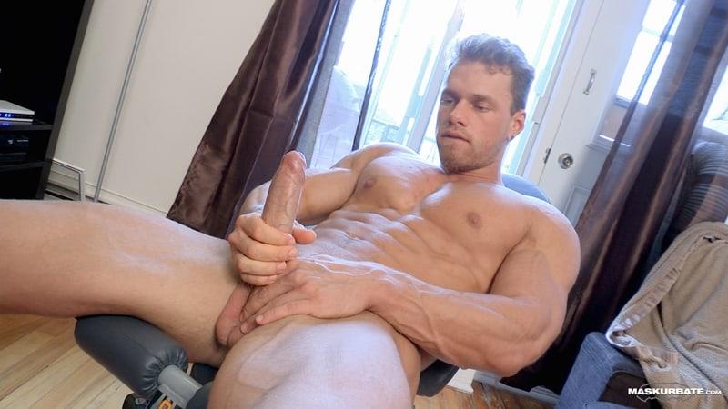 Big-muscle-man-Maskurbate-Brad-strips-naked-jerking-huge-uncut-dick-cum-011-Gay-Porn-Pics