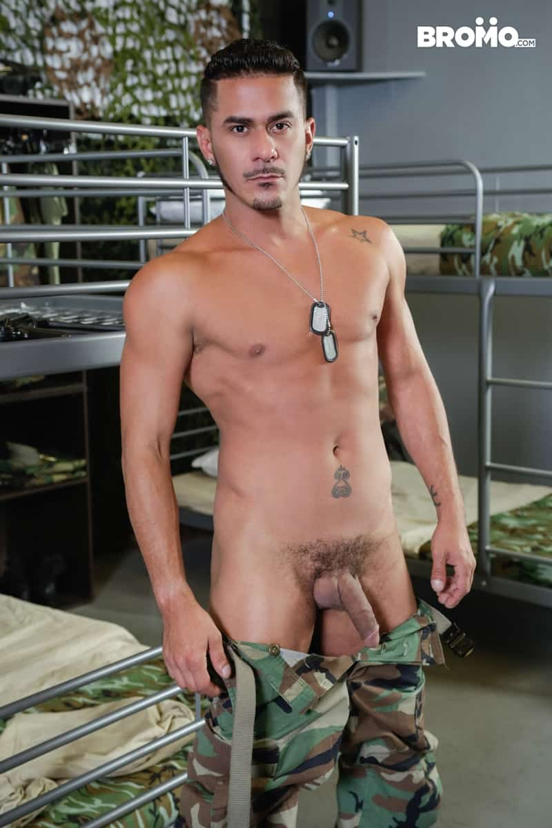 Cesar-Xes-hungry-bottom-bitch-John-Rene-huge-cock-fuck-ass-hole-army-barracks-Bromo-008-Gay-Porn-Pics